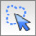 Icon of a mouse cursor and a dotted outlined cloud