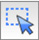 Icon with a mouse cursor and a dotted outlined square